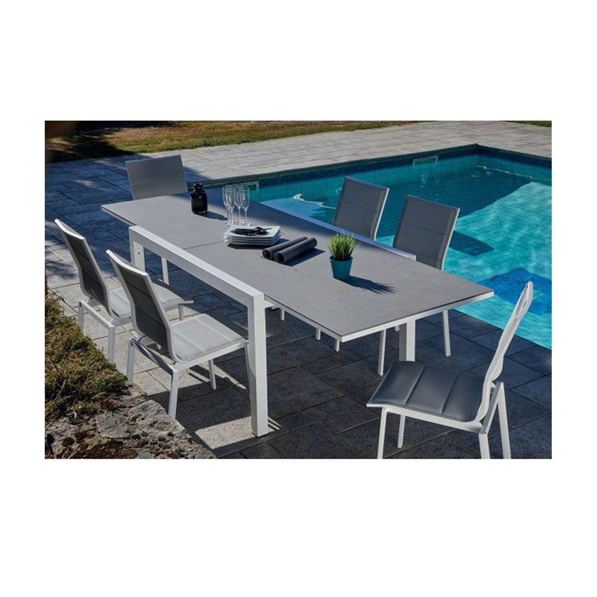 Salon De Jardin Avec Table Extensible - Taille : Taille ...