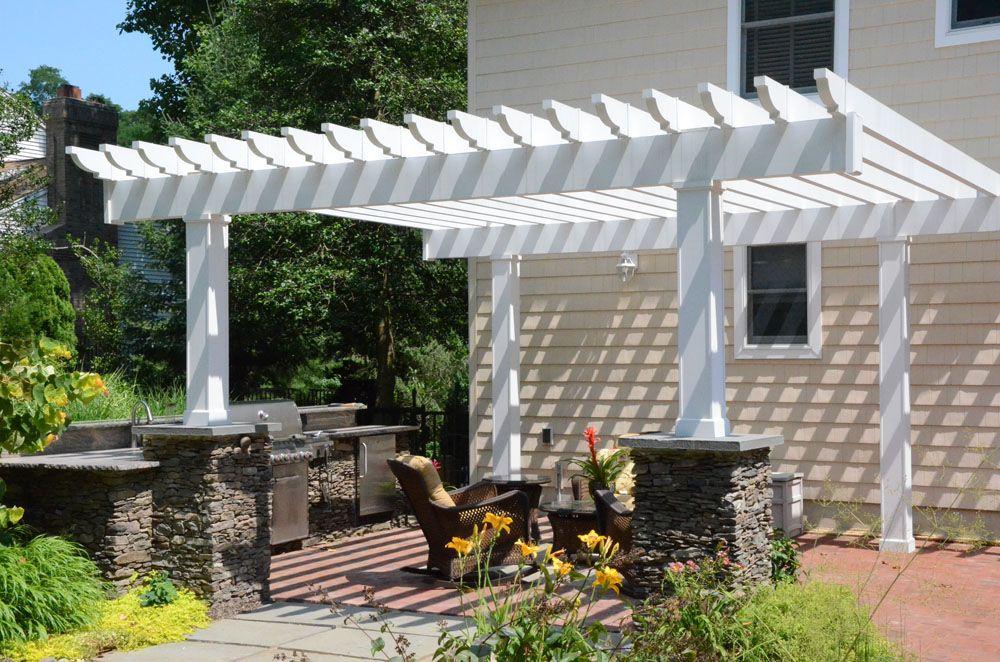 Outdoor Kitchens Photo Gallery Nj Outdoor Kitchen Contractor Exterior Design Backyard Backyard Landscaping Designs