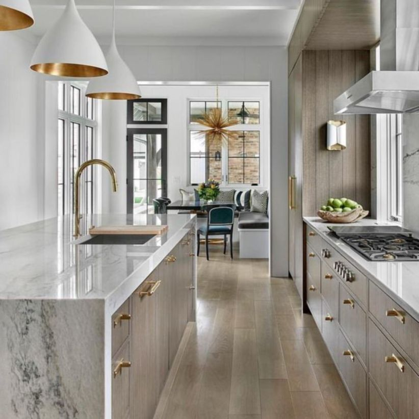 62 Stylish Modern Farmhouse Kitchen Makeover Decor Ideas ...