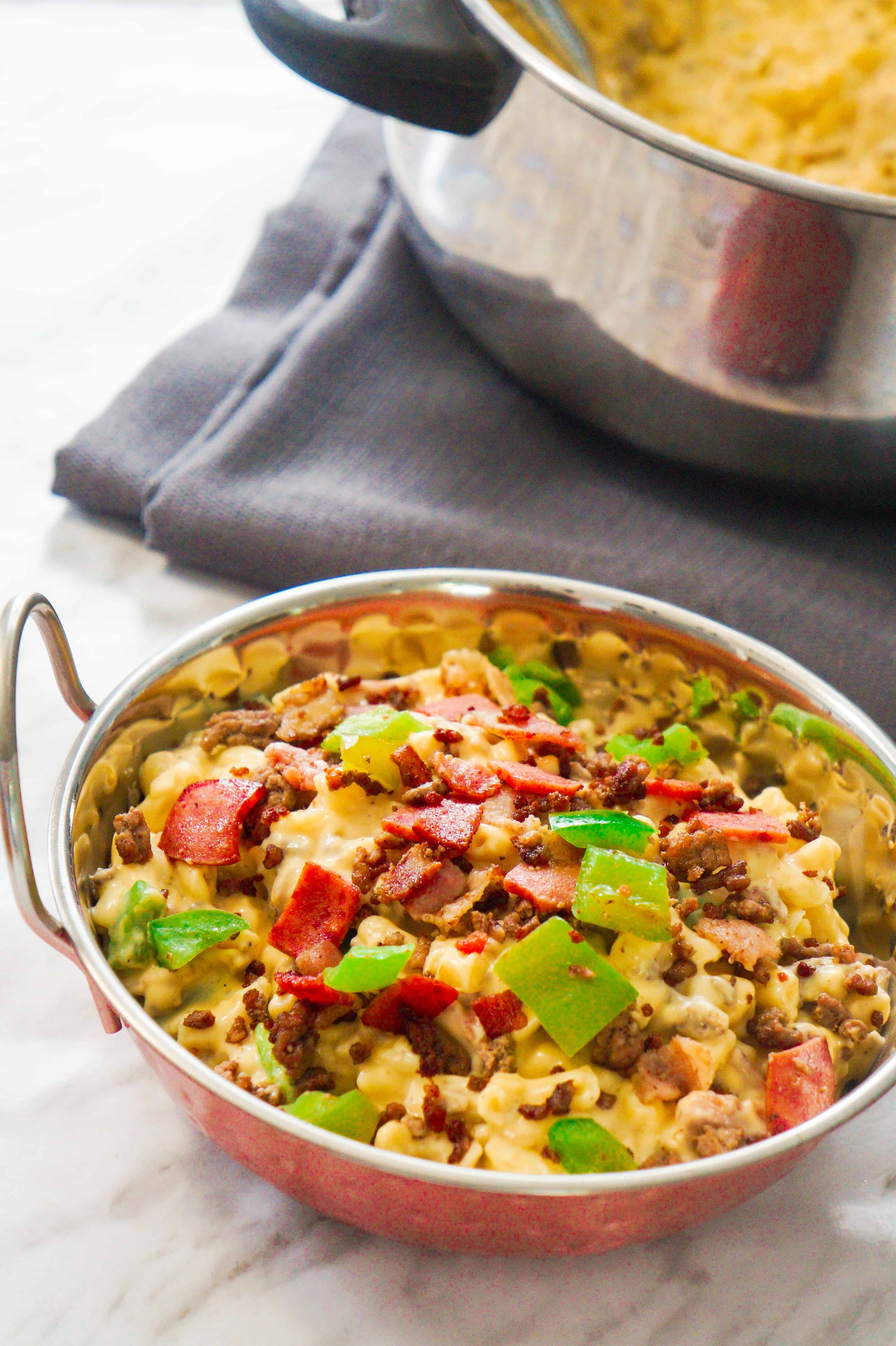 meat lover's mac and cheese easy homemade macaroni and