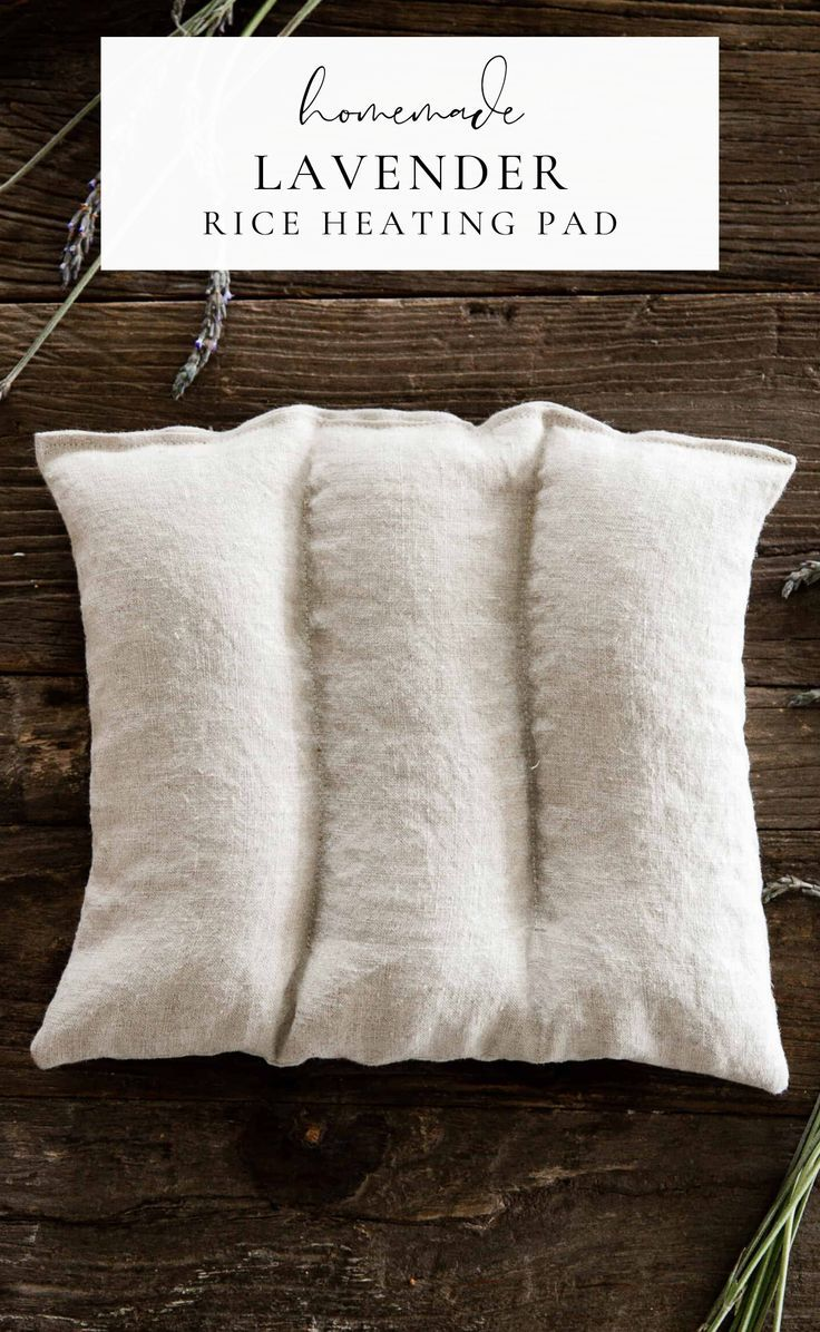Homemade Rice Heating Pad with Lavender Essential Oil - Boxwood Ave