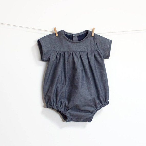 Baby Romper PDF Sewing Pattern – Instant download – Long or Short ...