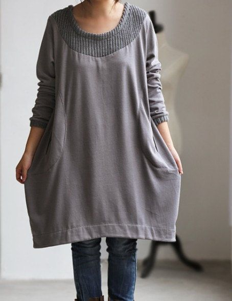 Love only/ Leisure dress bottoming Long shirt by MaLieb on Etsy, $72.00