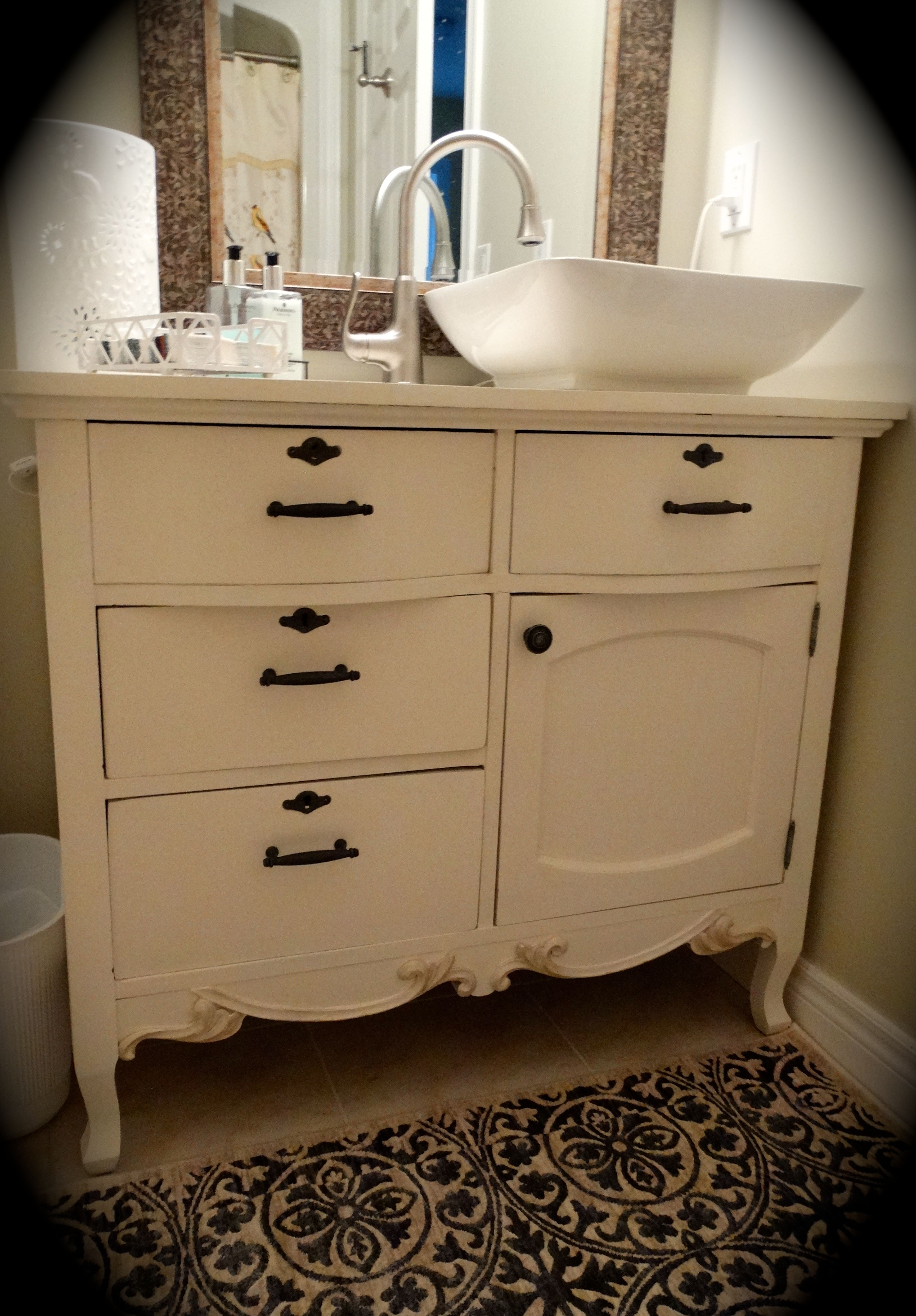 Custom vanity created for our client.