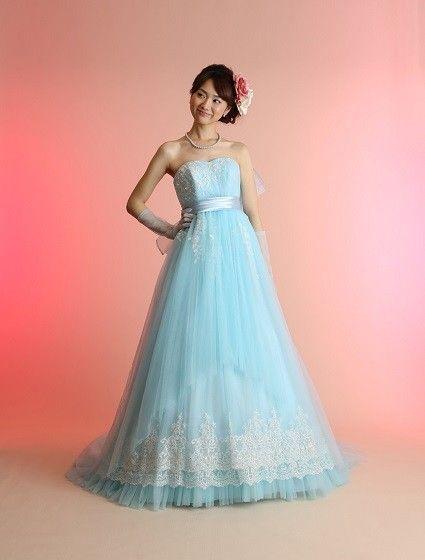 Color-ブルー エンパイア カラードレス $40944.82 カラードレス