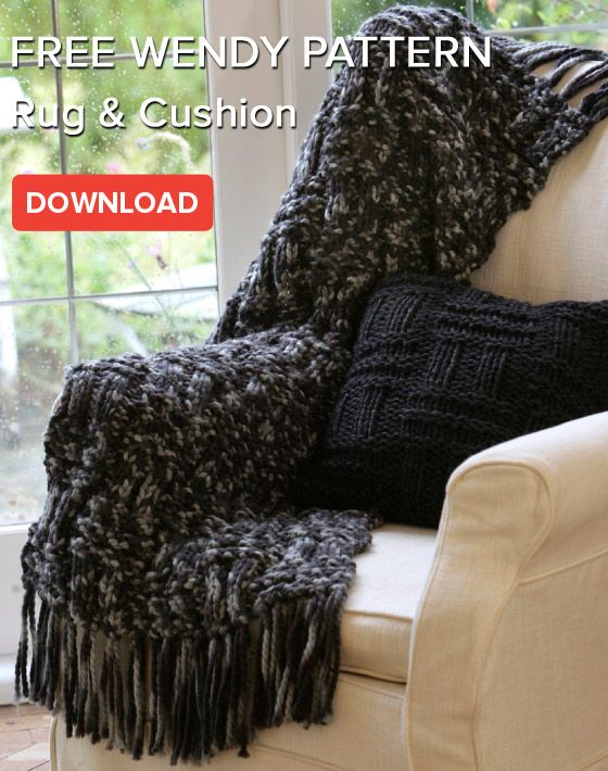 Free pattern: Rug and Cushion in Wendy Pampas