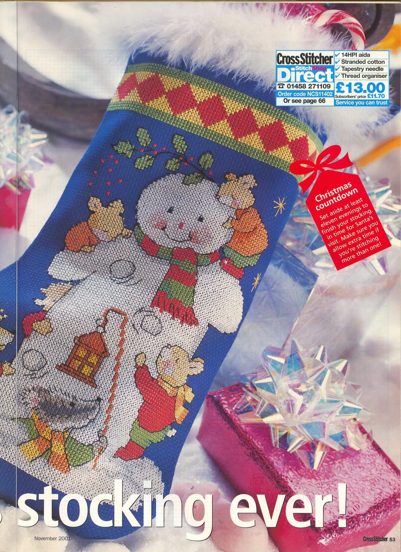 snowman stocking 4/5