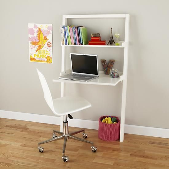 Kids Desk White Leaning Wall In Desks Chairs The Land