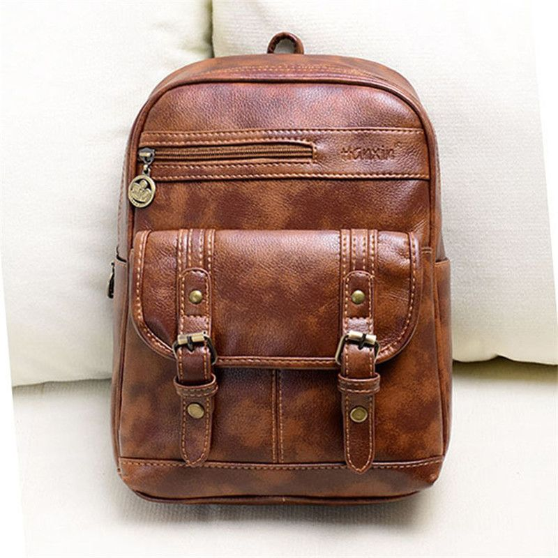 0700dfd0345d Hot style selling brand fashion institute wind restoring ancient ways  students backpack backpack pu leather ladies