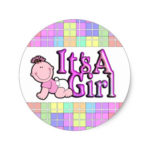 Its a girl shiny pink text w baby sticker sheet doos pinterest baby stickers texts and babies