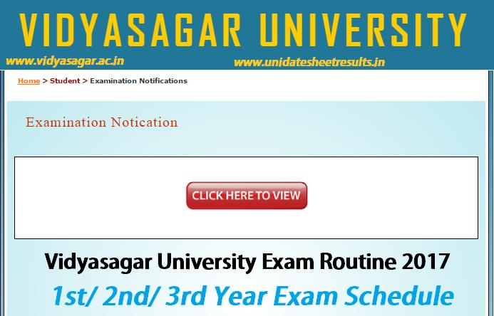 Vidyasagar University Routine