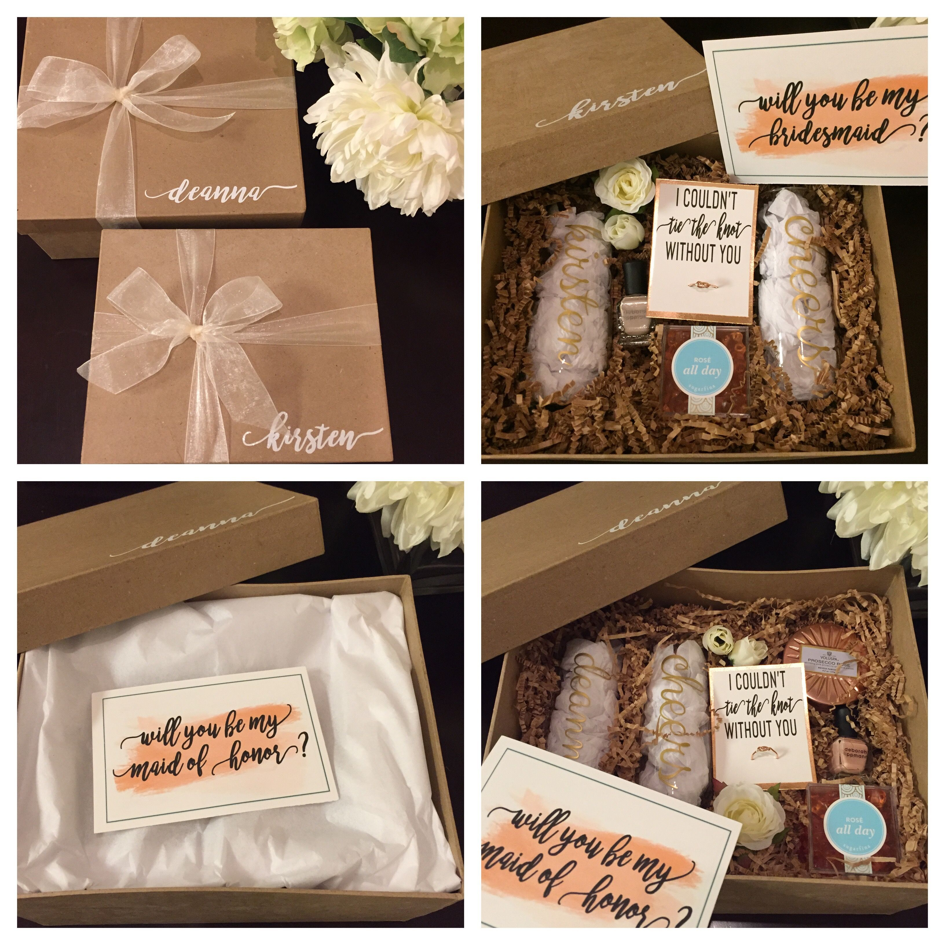 Bridesmaid proposal boxes will you be