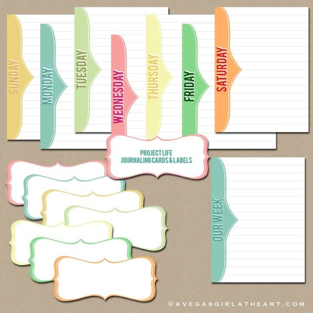 250+ Free Project Life, Journaling, and Filler Cards  //  fabnfree.com