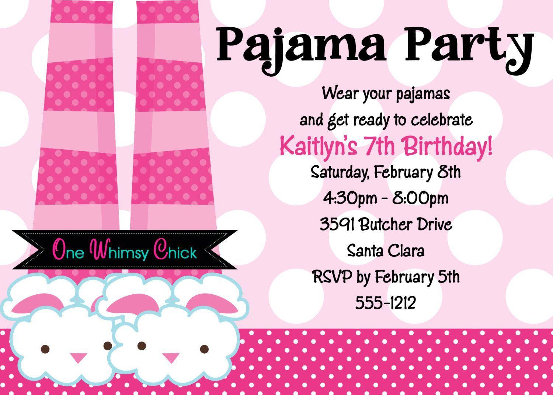 carte anniversaire : carte invitation soirée pyjama - Carte ...
