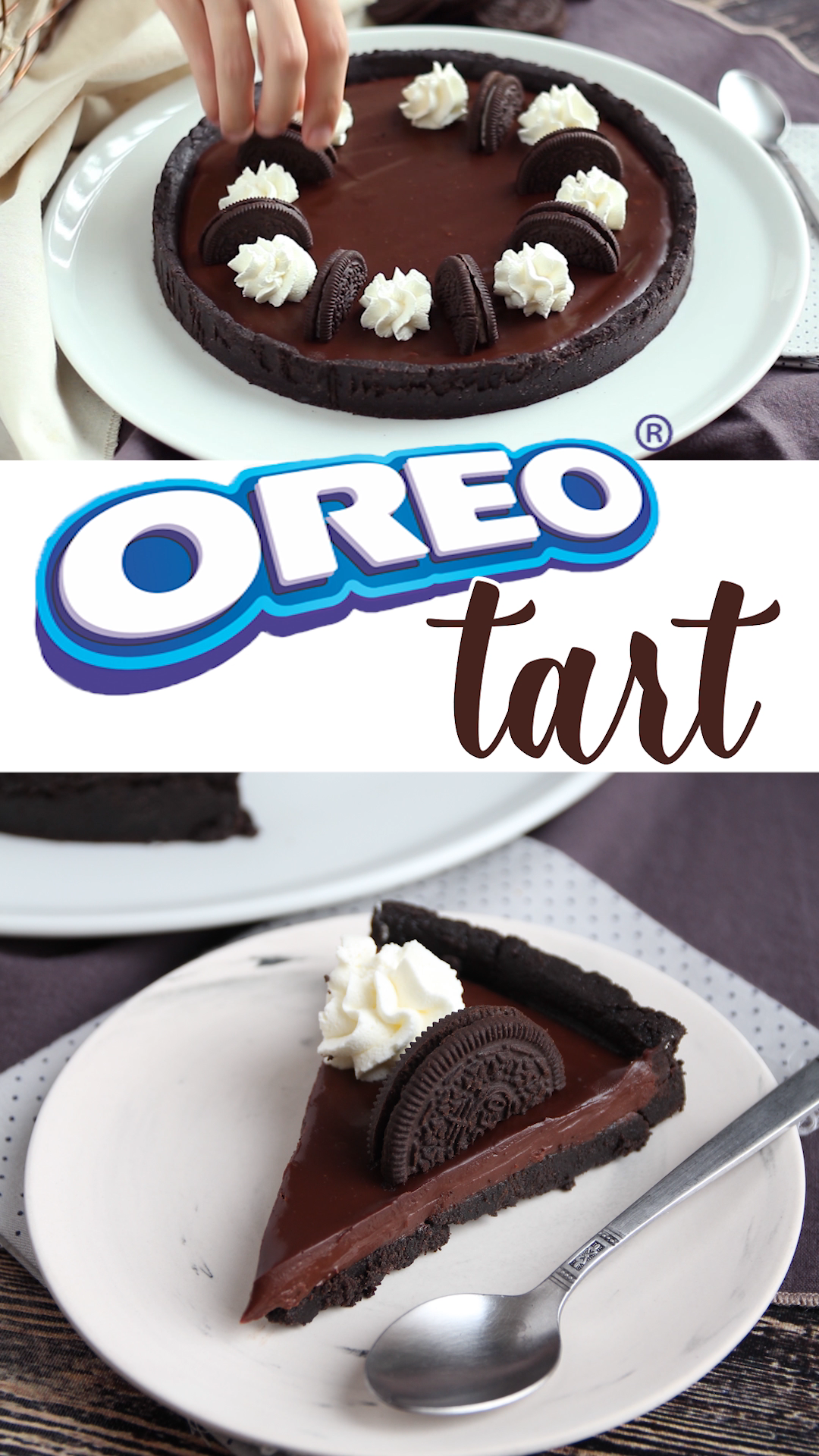 Oreo and chocolate tart - no bake
