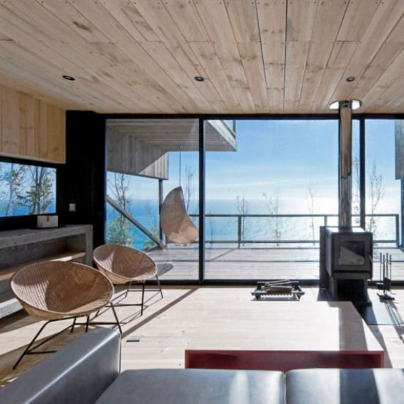 Weekend Home On The Cliffside This Angular Building Was Created