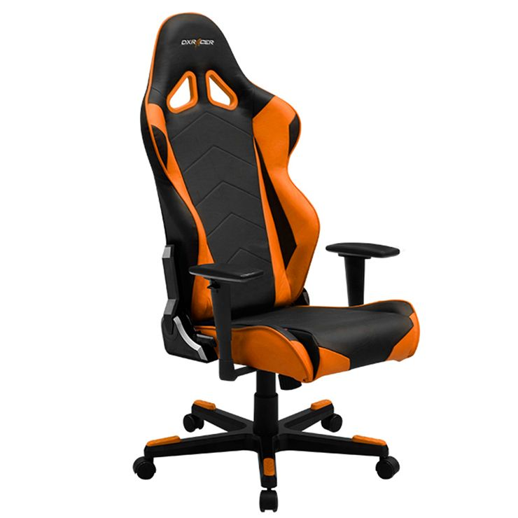 Dxracer Oh Re0 No Highback Racing Office Chair Video Game Chair Pu Black Orange Gaming Chair Ergonomic Office Chair Green Chair