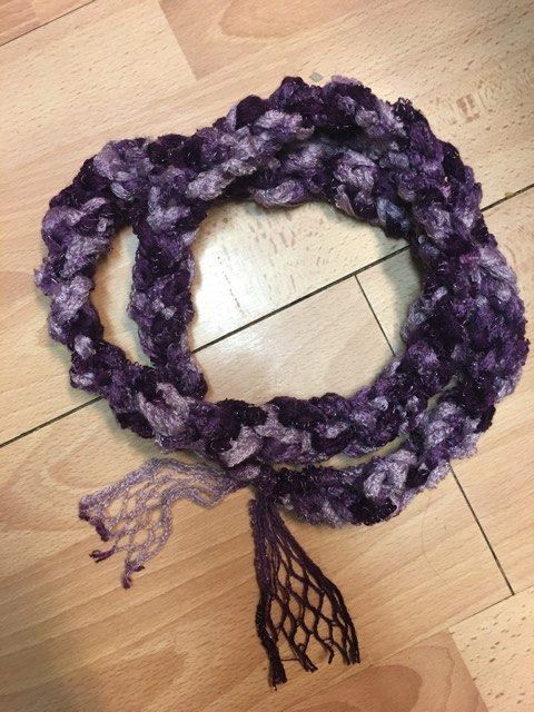 infinity scarf purple sparkly beautiful by LeannesKillerCrafts ...