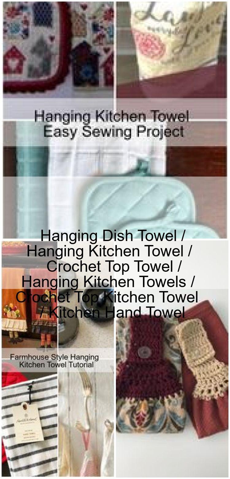 Hanging Dish Towel Hanging Kitchen Towel Crochet Top Towel