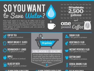 Saving Water Infographic Design With Images Save Water