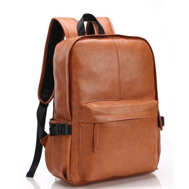 Bdf Oil Wax Leather Backpack Men Travel Backpack Western Design