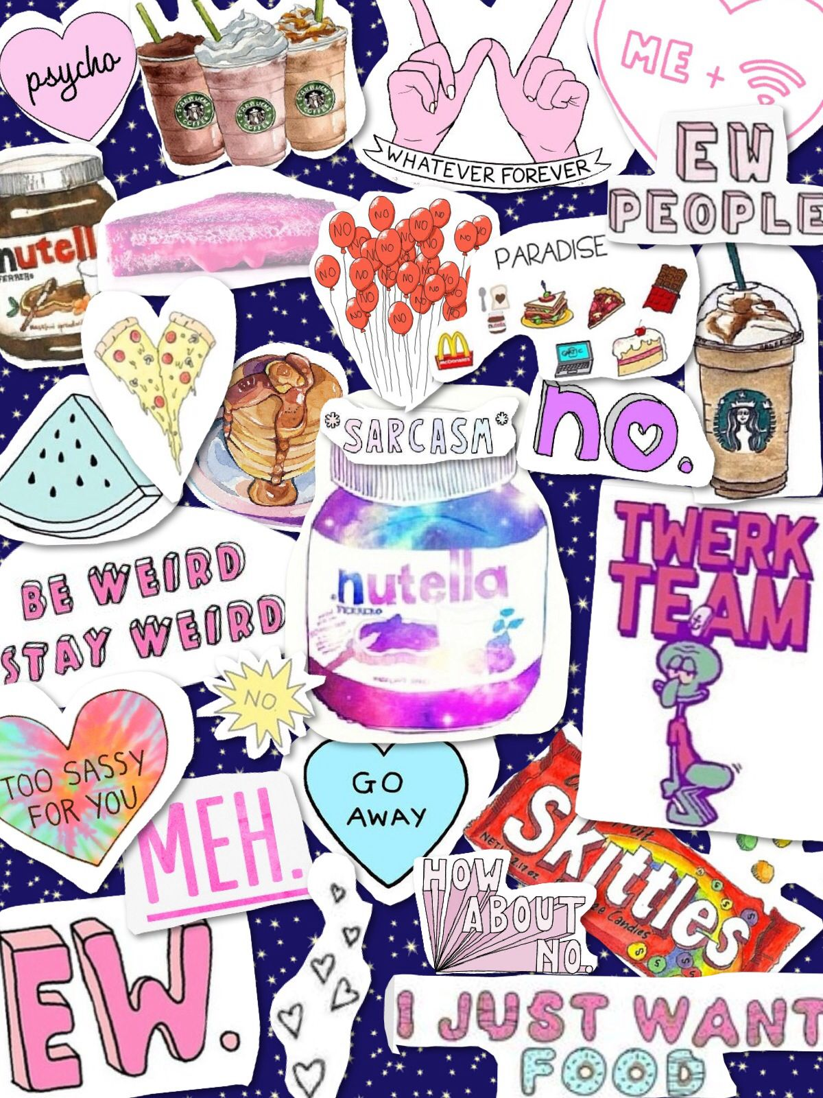 Tumblr Transparents Collage Wallpaper Galaxy Quotes Hipster Cool