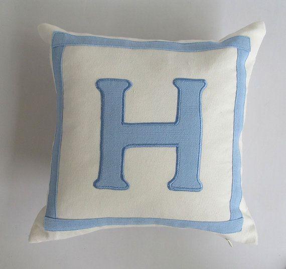 monogram pillow nursery decor letter