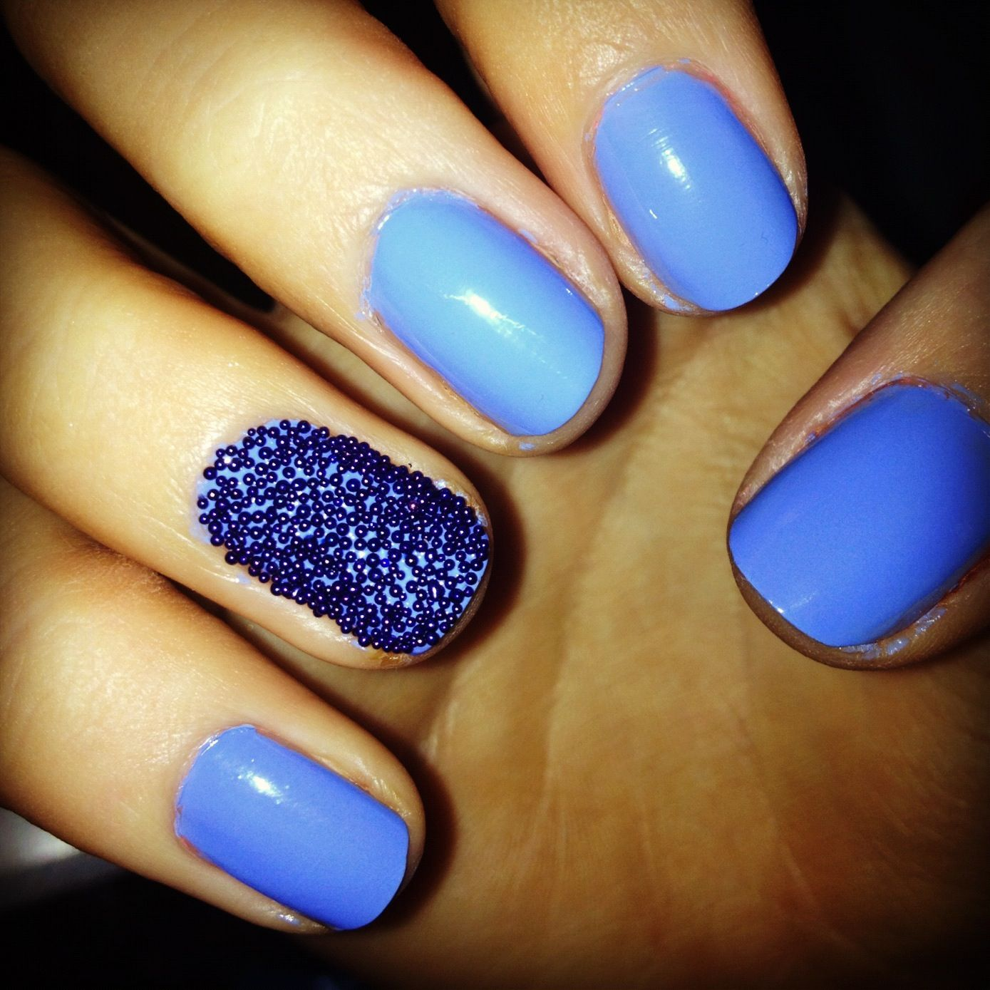 Barry M gelish nails with nail caviar Pretty nails