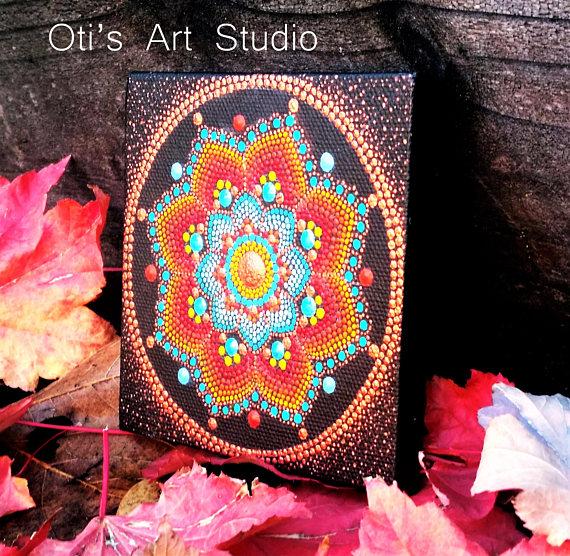 AUTUMN Mini Mandala- Original Artwork mandala art Pinterest