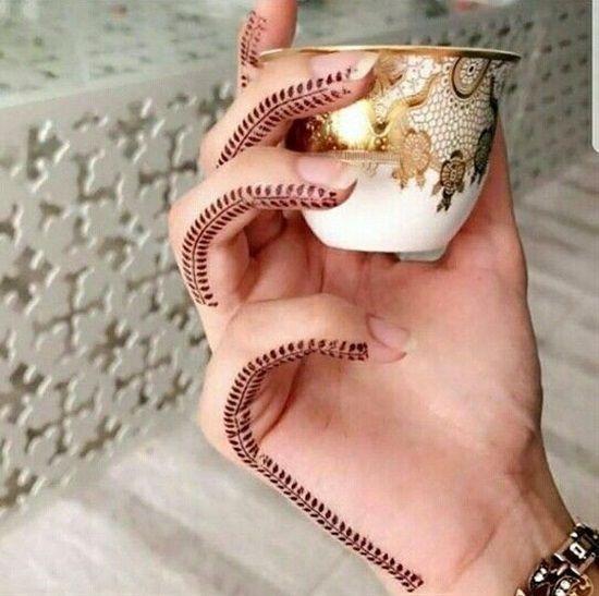 Finger Edge Finger Henna Designs Mehndi Designs For Fingers Henna Tattoo Designs