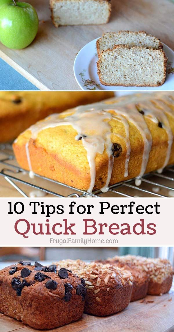 Tips to help your quick bread turn out perfect each time. I use tip #8 all the time. Plus a few tried and true recipes too.