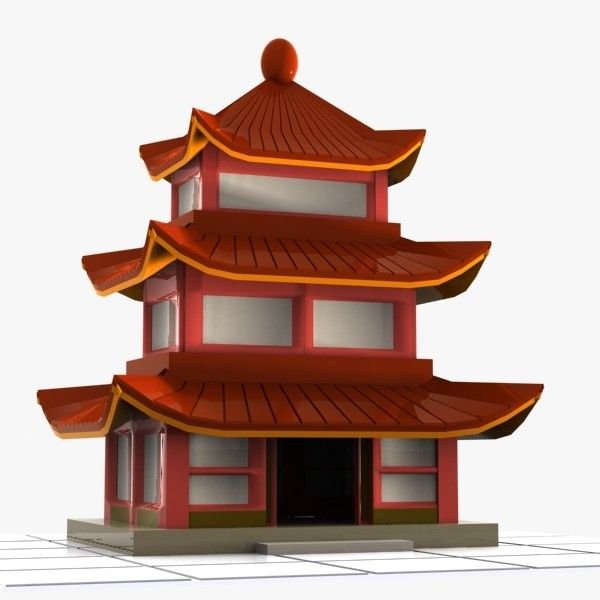 3ds Cartoon Chinese House Chinese Architecture House 3d
