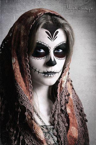 La Muerte Day Of The Dead Sugar Skull Makeup Dead Makeup