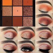 Würden Sie diesen schönen Augen-Make-up-Look tragen? 👁️. Vickys Make-up-S…