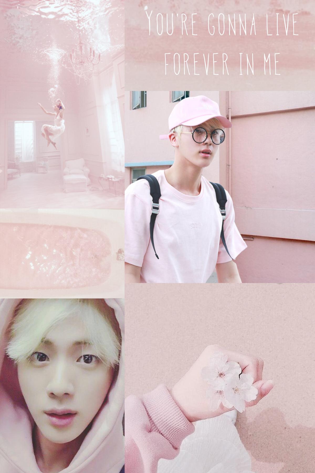 Jin Kim Seokjin Pink Aesthetic Pink Aesthetic Kim Seokjin Bts Jin