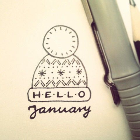 Hello January My Daily Doodle Challenge 1 By Saratelka