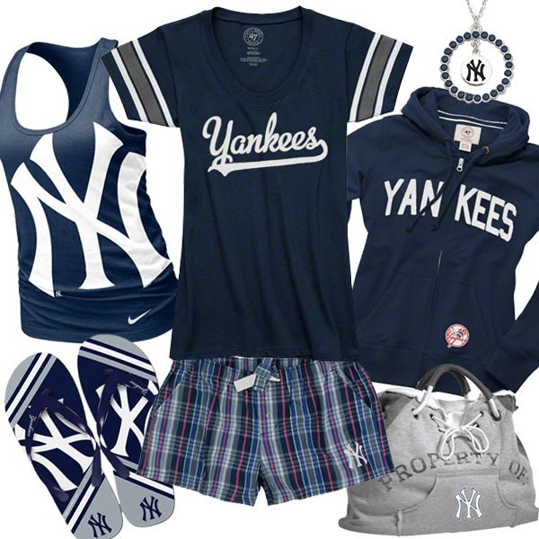 online store fad9f 429a2 Womens New York Yankees Fashion | style collages | New york ...