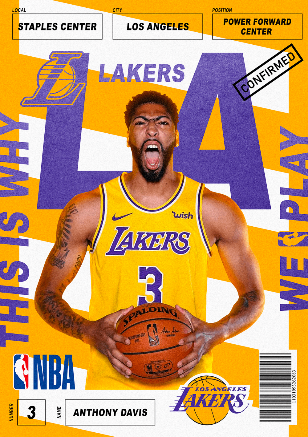 La Lakers Poster On Behance In 2020 La Lakers Poster La Lakers Lakers