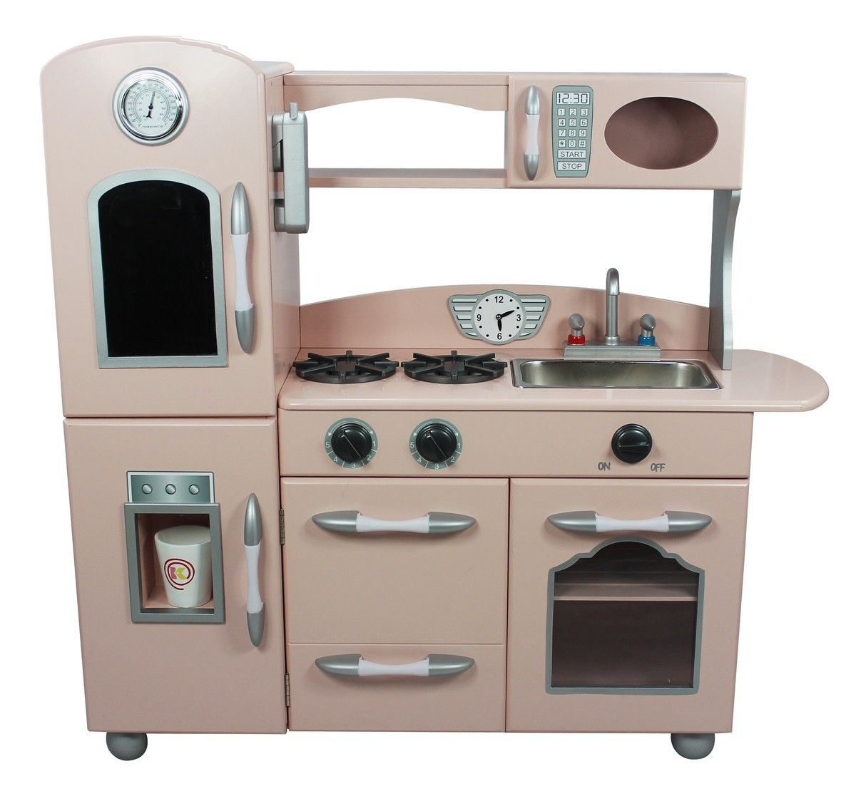 Wooden Kitchen Playsets | Fresh Everyday Design | Pink play ...