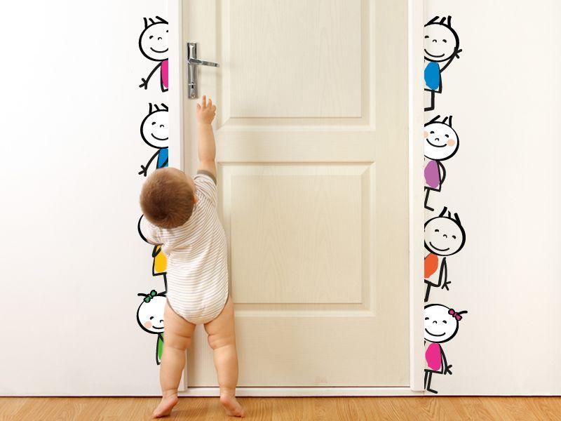 vinilo infantil dibujos nenes puerta precios y medidas en http