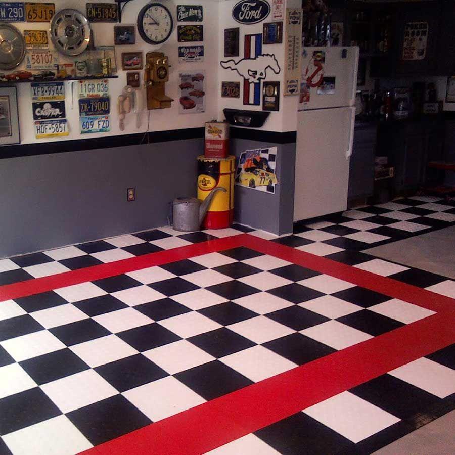 Checker flooring garageflooring truelock garage floor tile checker flooring garageflooring dailygadgetfo Images