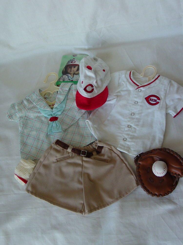 "American Girl 18/"" Doll Kit Retired Cincinnati Reds Fan Baseball Outfit Shorts"