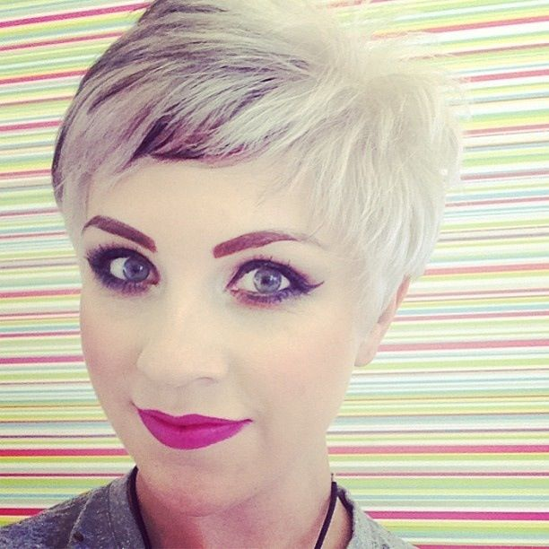 Silver Black Blonde Short Pixie Crop Hair. Short Hair. Makeup | |Blonde| | Pinterest | Crop Hair ...