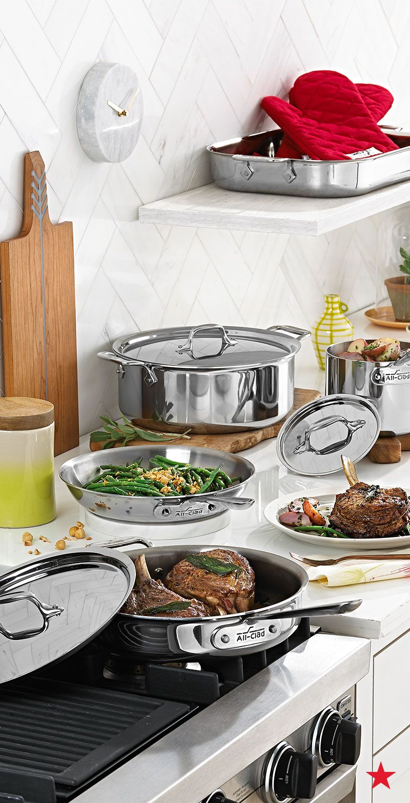 Stainless Steel 7Pc. Cookware Set, Created for Macy's(이미지 포함)