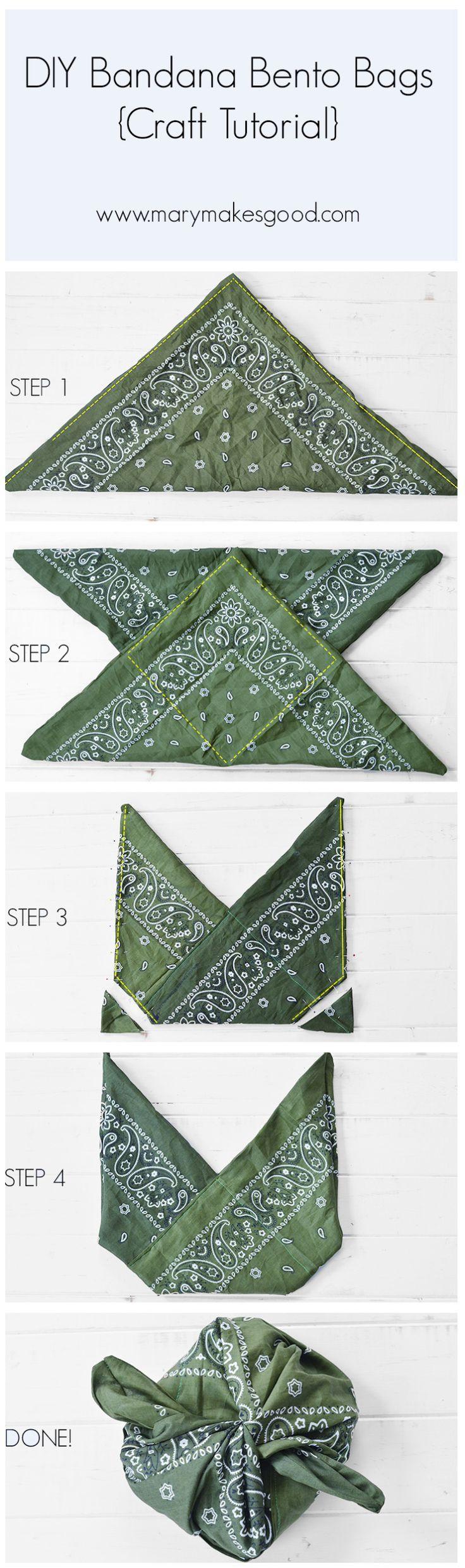 DIY Bandana Bento Bags {Craft Tutorial} » Mary Makes Good