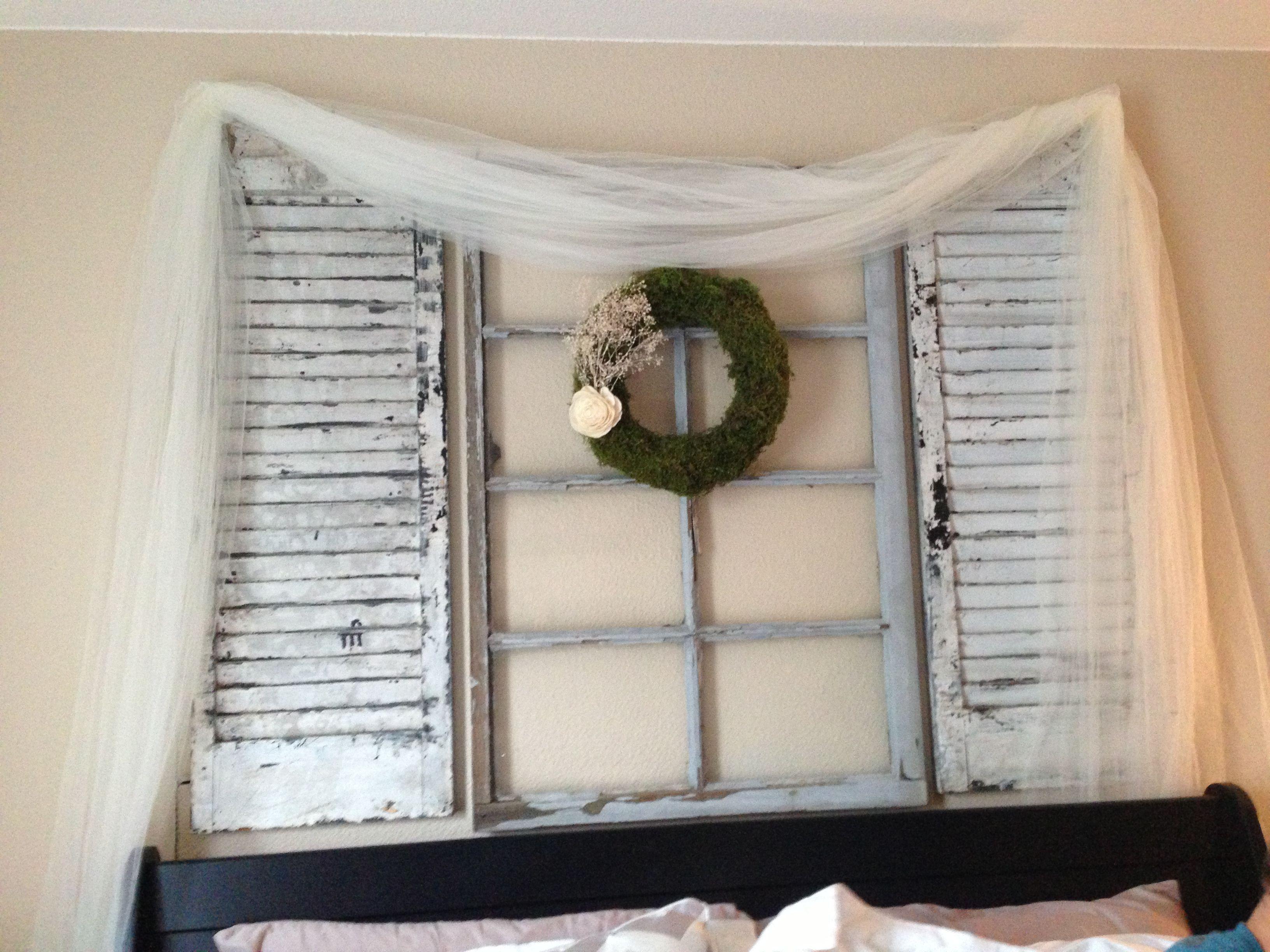 Window decor for bedroom  shabby chic bedroom wall decor tulle moss wreath babyus breath