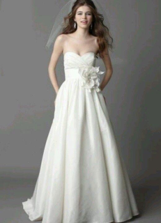Strapless Heart Shape Beach Theme Wedding Dress Cute Under The
