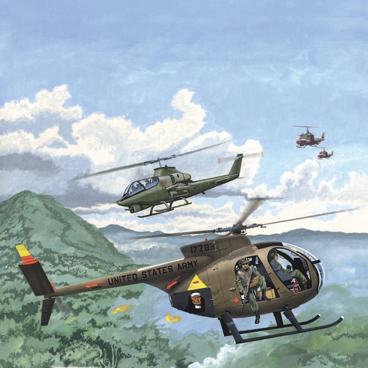 Us Helicopters In Vietnam Vietnam Military Artwork Aircraft Art