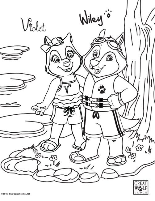 Keep Kids Entertained On Road Trips With These Free Printable Great Wolf Lodge Coloring Pages