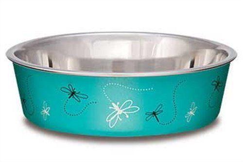 Loving Pets Dragonfly Bella Bowl For Pets Small Turquoise